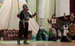 Қазалы ауданында «Жанқожа батыр» спектаклі қойылды