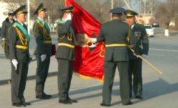72-атқыштар дивизиясының туы Қызылордаға жеткізілді