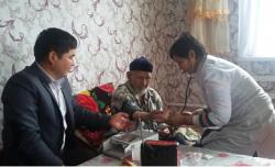 Қызылорда облысында ҰОС ардагерлеріне қан қысымын өлшейтін тонометрлер тарту етілді