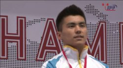 Қуанышбай Төлегенов зілтемірді жатып сығымдап көтеруден екі дүркін әлем чемпионы атанды
