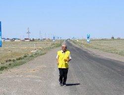 Аралдық марафоншы Қызылордаға дейін жүгіріп барады