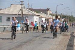«ЭКСПО» көрмесіне арналған велошеру өтті